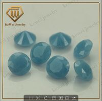 Round Cut Wholesale Gems High Temperature Resistance Turquoise with 2.5mm