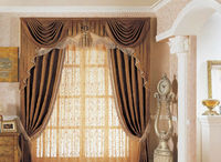 electric blackout curtains with sheer
