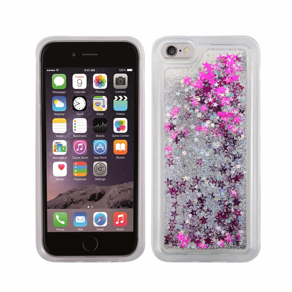 Light Weight Colorful Tpu Mobile Phone Cover Bling Glitter Case For Iphone 7 For Iphone 6