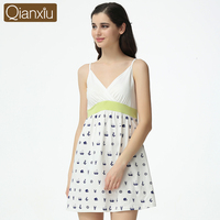 Qianxiu Hot Selling Cotton Ladies Sexy Night Skirt