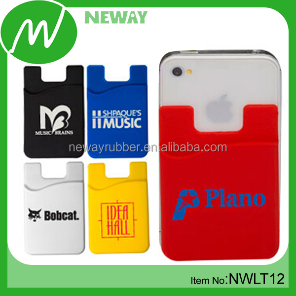 Custom Made Silicone Mobile Phone 3m Sticker Smart Wallet