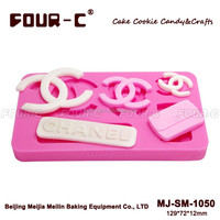 CC famous logo silicone cake mold, cup Cake Decorating Supplies, fondant tools for cake decorating