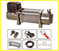 12v/24v dc motorized winch , ce approved 13000lb rope winches , 4x4 heavy duty vehicle winch