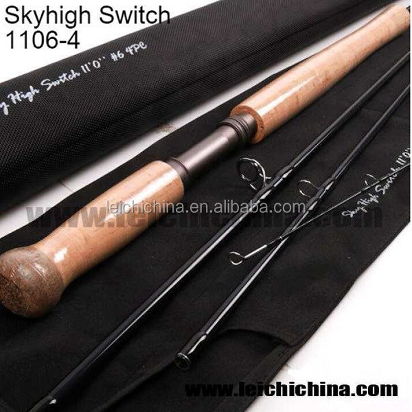 Japanese Carbon Fiber Switch Salmon Fly Fishing Rod