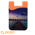 Smart wallet holder silicon phone pouch, personalized cell phone mobile 3m sticky smart pocket