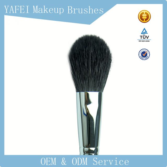 F06 elegant goat hair smudge Multi-Function makeup brush with wooden handle blusher brush