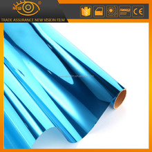 silver-blue glass window tint commerial glass interior one way vision sun mirror silver privacy building films