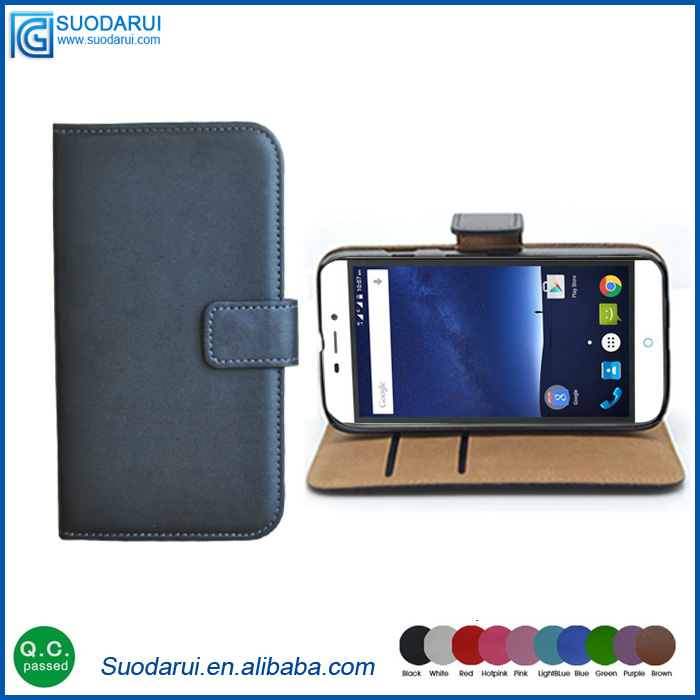 ID slot stand cover flip case For Zte Blade V plus Book stand wallet leather case