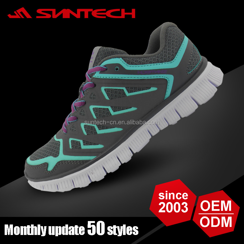Dark bright color action sports running shoes for men