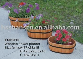 outdoor solid wooden flower planter sets