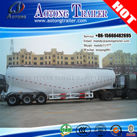 AOTONG Tri-axle 60 Ton 70 Ton Bulk Cement Bulker Tanker Semi Trailer With WEICHAI 4102 engine