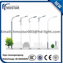 ISO9001 Decorative Galvanized Price List Solar Street Lighting Pole