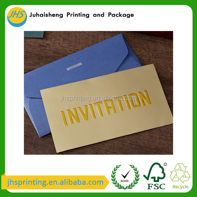 Luxurious brown wholesale paper wedding invitation card 2017