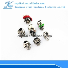 A wide variety of skull beads, metal skull beads,paracord skull beads