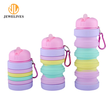 Travel Sport Portable Foldable Collapsible Silicone Water Bottle