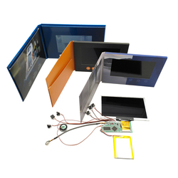 ETG 7 Inch Lcd TFT Screen Video Brochure Greeting Card Module With Eva Foam