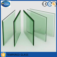 2016 Excellent quality small piece decorative beveled tempered glass pieces