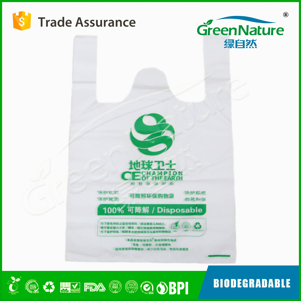 Factory Directly printed biodegradable poly bag high quality