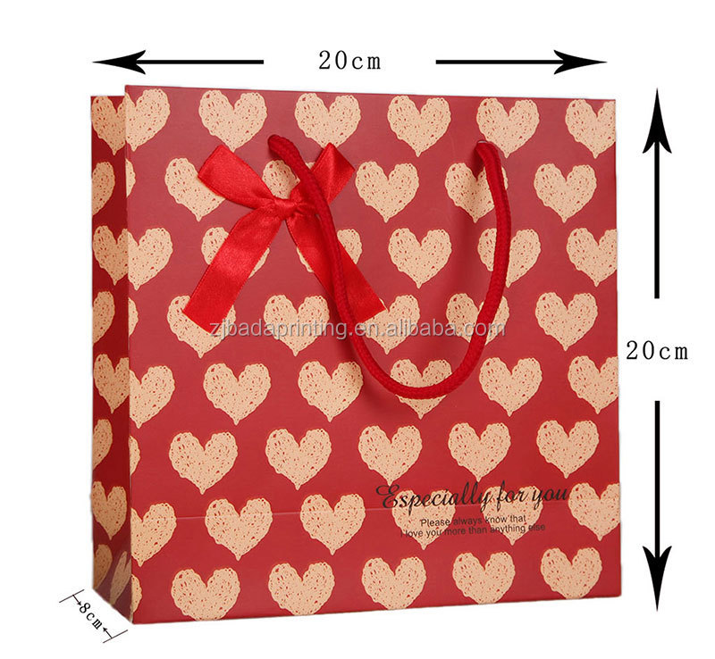 Custom Gift Paper Bag With Hook Handle/Shopping PaperBag
