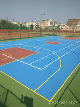 Athletic Gymnasium Flooring Outdoor Play Surfaces basketball court floor paint