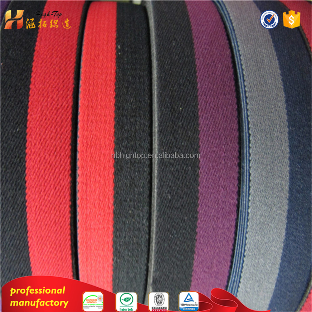 woven elastic tape, elastic webbing for commercial bags / suitcase / luggage / arm band