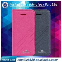 LZB fancy flip cover with stand pu leather cell phone cases for iphone 4 4s