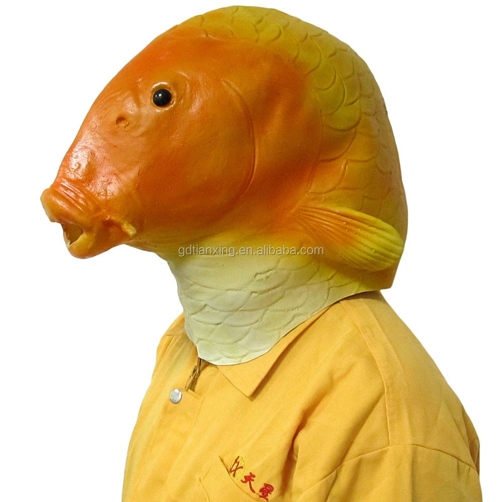 Hot sale fashion various style full head halloween latex fish animal mask