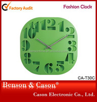 Cason hollow out wall clock for outdoor decoration