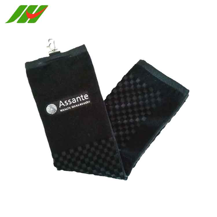 JHGT152 Quick Dry Custom Microfiber Embroidered Sport Towel in Mesh Bag