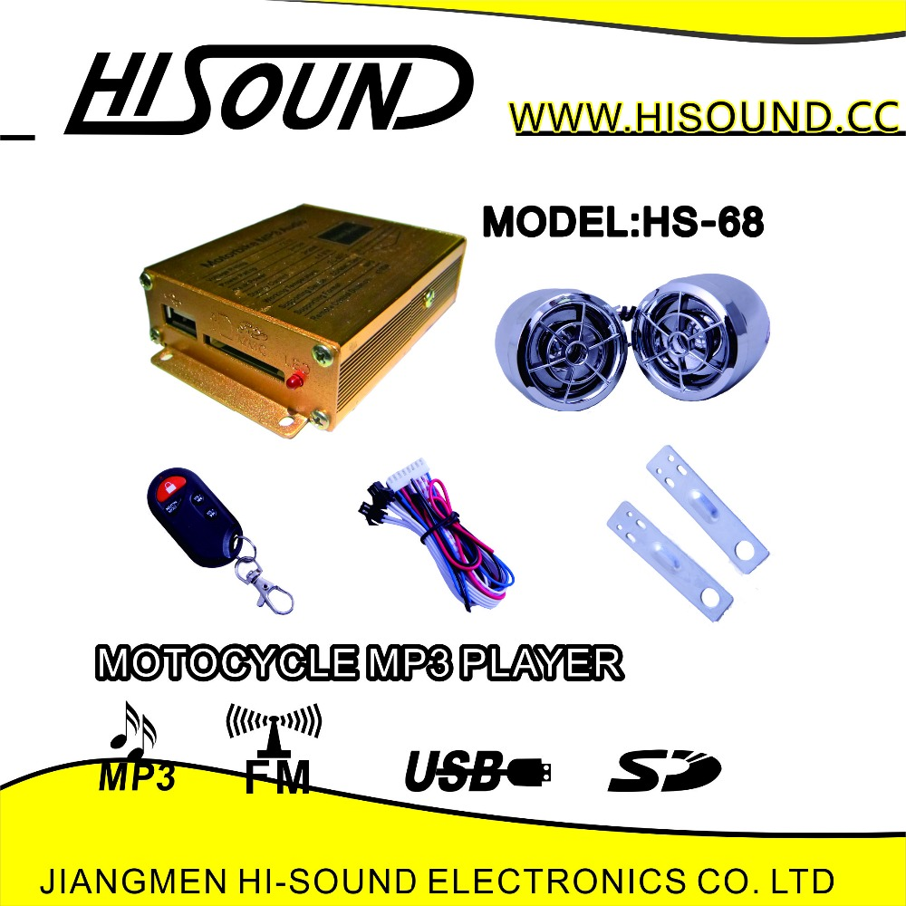 Hisound motorcycle mp3 usb player