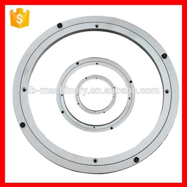 top quality aluminum lazy susan turnable plate/no noise aluminum swivel plate base lazy susan