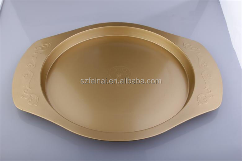 Gold-plated Stainless steel service plate fruit tray serving tray