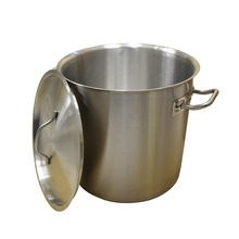 WB-MZJD-G033 21L Big Kitchen Stock Stainless Steel Soup Commercial Pot