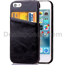 Black Hard Back Cases for iphone 5 Cover with Phone holder Card Slots