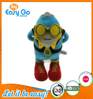 Customized the latest design of the blue mascot children plush toys