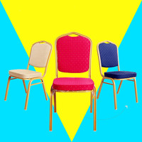 Wholesale crown royal Stacking cheap used fabric Banquet hall Chairs for sale