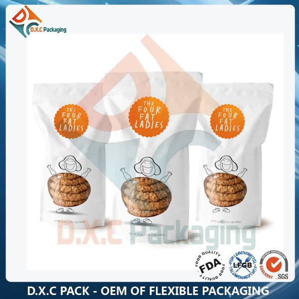 Custom Print Food Bag With Window (OEM Factory and Free Samples)