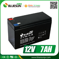 Bluesun hot sale 12v 7ah 20hr sealed lead acid battery with ISO CE ROHS