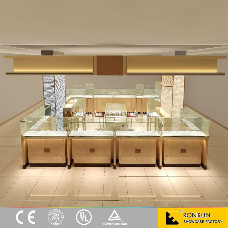 2017 New customized jewelry showcase cabinet furniture for store showroom design
