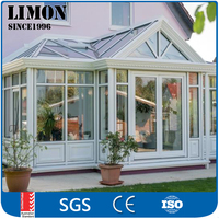 Safety Glass 3.0mm Thickness Aluminium lowes Sunrooms with curved glass