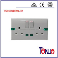 British Style double 13A 1 gang 2 way electric socket