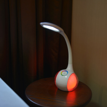 Flexible led lamp with goose neck lamp arm on the desk