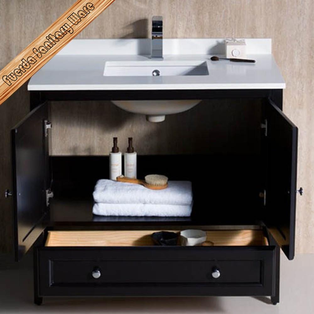Fed 1068 36 inch espresso solid wood bathroom vanity combo buy european style bathroom vanity - Euro bathroom vanity combo set ...
