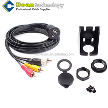Boan Car Flush Mount Installation USB/Aux 3RCA Audio Video Extension Cable