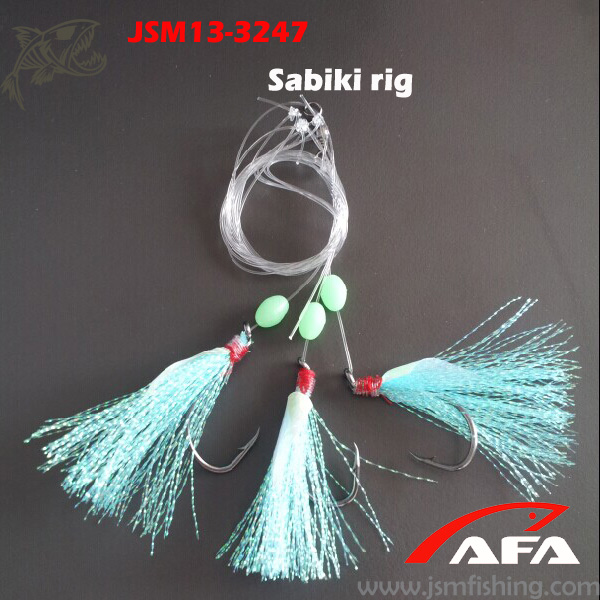 Wholesale high quality custom made crystal flash fish skin sabiki rigs for fishing