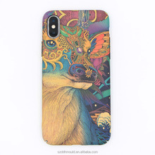 custom full printing hard mobiler phone back cover for iphoneX