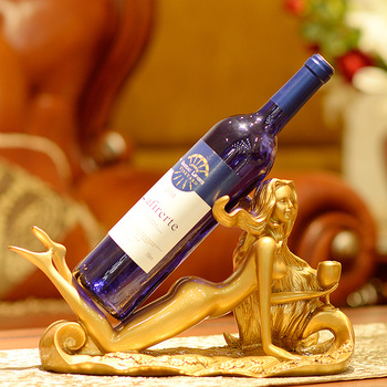YIBEI home goods decorative lady resin wine bottle holder
