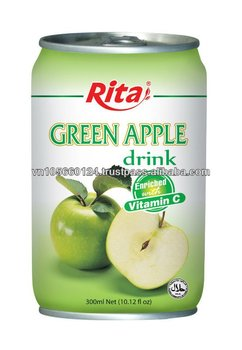 330 ml alu can natural Green Apple Juice
