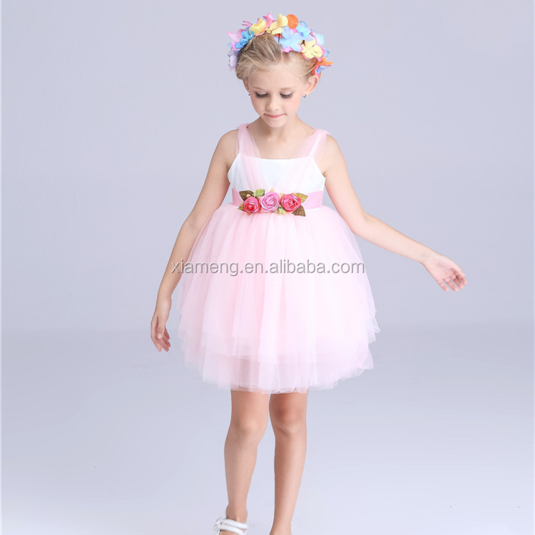 2016 new design China Alibaba wholesale summer ceremony kids fashion dresses pictures