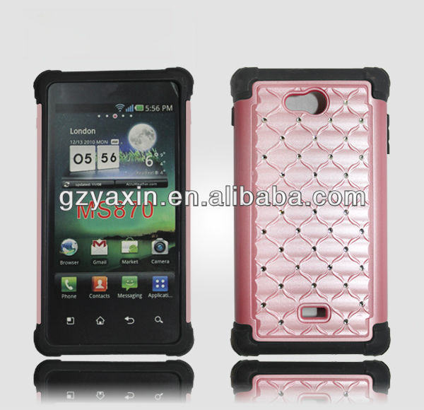 Fashion rhinestone cell phone cases for lg ms870 with cheap price